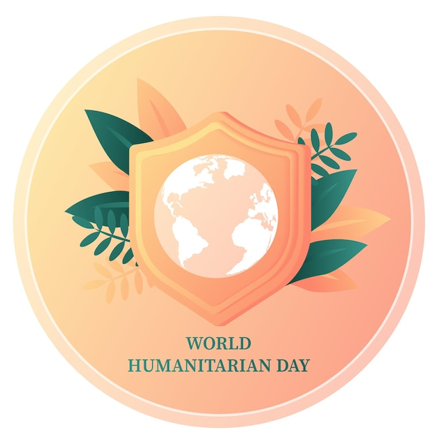 Journée mondiale de l'aide humanitaire célébrée chaque année le 19 août dans le monde modèle de bannière aide aux soins