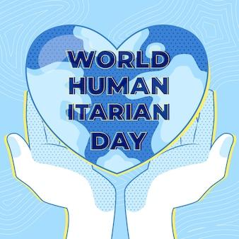 Journée mondiale de l'aide humanitaire avec le cœur dans les mains