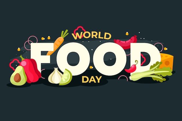 La journée mondiale de l'alimentation design plat célèbre