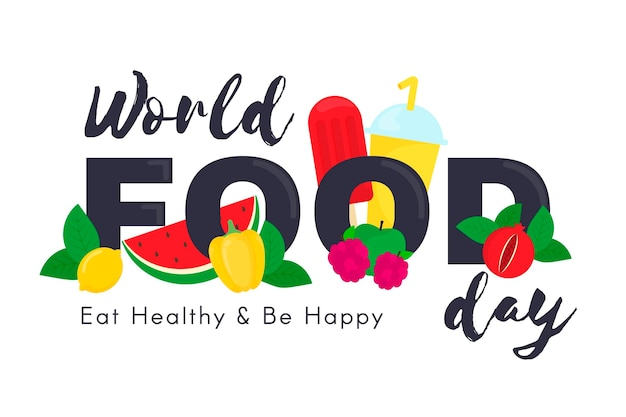 Journée mondiale de l'alimentation design plat