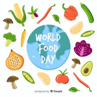 Journée mondiale de l'alimentation dessiné à la main