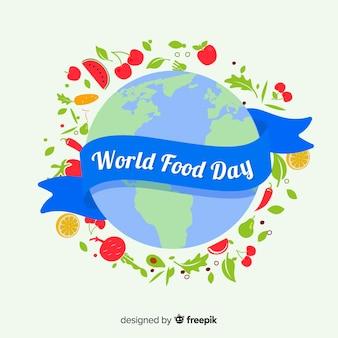 Journée mondiale de l'alimentation avec ruban