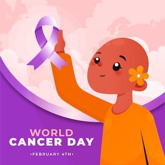 Journée mondiale contre le cancer avec caractère