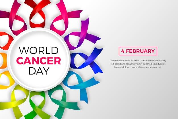 Journée mondiale du cancer en dégradé
