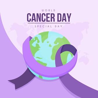 Journée mondiale du cancer plat