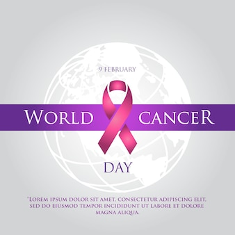 Journée mondiale du cancer simple fond élégant