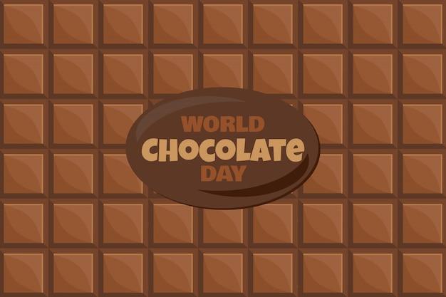 Journée mondiale du chocolat avec texte et fond de dessert savoureux