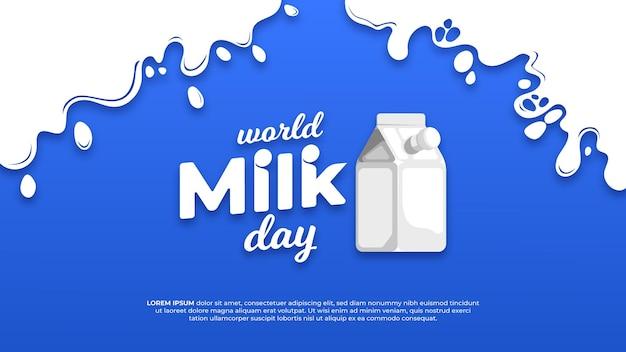 Journée mondiale du lait plat