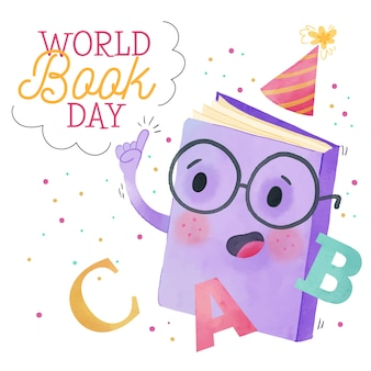 Journée mondiale du livre aquarelle
