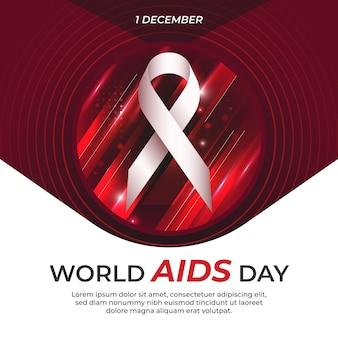 Journée mondiale du sida en arrière-plan abstrait