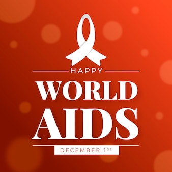 Journée mondiale du sida au design plat