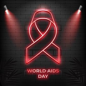 Journée mondiale du sida au néon