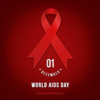 Journée mondiale du sida fond rouge