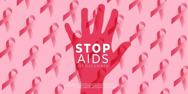 Journée mondiale du sida icône concept modèle style événement approprié aide à la socialisation, icône main,