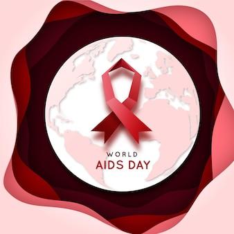 Journée mondiale du sida sur papier