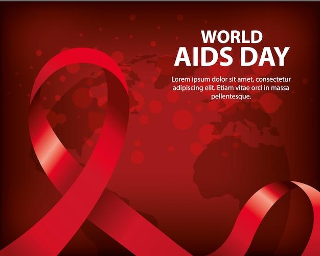 Journée mondiale du sida avec ruban