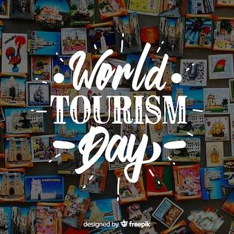 Journée mondiale du tourisme avec des aimants pour le frigo