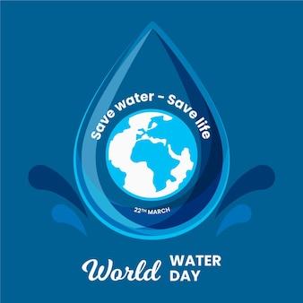 Journée mondiale de l'eau dessinée à la main