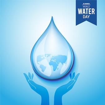 Journée mondiale de l'eau. économiser l'eau.