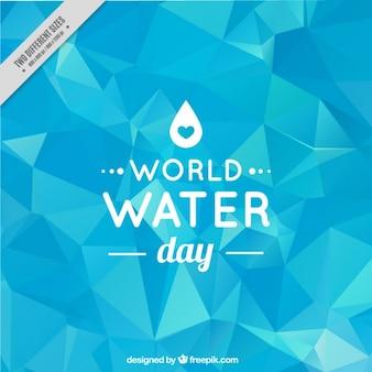 Journée mondiale de l'eau à faible poly fond