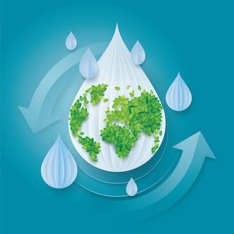 Journée mondiale de l'eau, save the water et le monde
