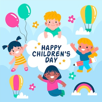 Journée mondiale des enfants dessinés à la main