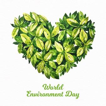 Journée mondiale de l'environnement aquarelle