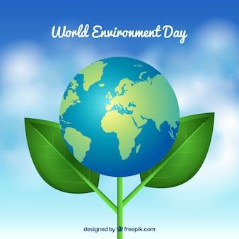 Journée mondiale de l'environnement avec fond de fleurs de terre
