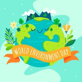 Journée mondiale de l'environnement avec la planète