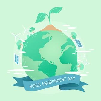 Journée mondiale de l'environnement plat
