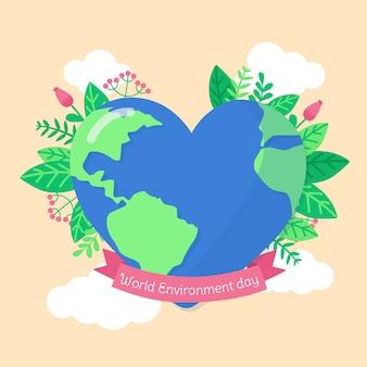 Journée mondiale de l'environnement de style plat