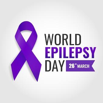 Journée mondiale de l'épilepsie. journée pourpre.