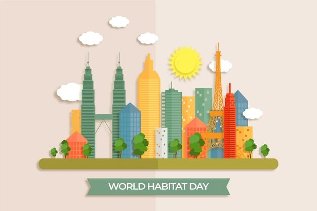 Journée mondiale de l'habitat en papier