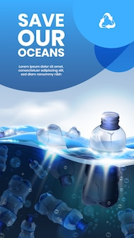 Journée mondiale de l'océan, déchets de bouteilles en plastique