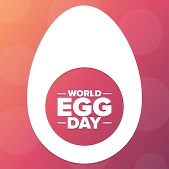 Journée mondiale des œufs. notion de vacances. modèle d'arrière-plan, bannière, carte, affiche avec inscription de texte. illustration vectorielle eps10.