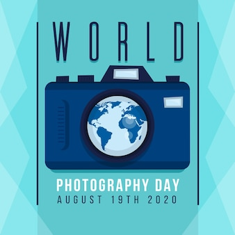 Journée mondiale de la photographie avec appareil photo