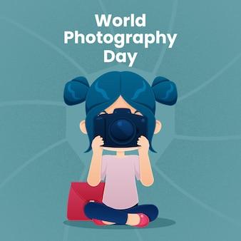 Journée mondiale de la photographie à plat