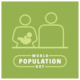 Journée mondiale de la population de conception graphique