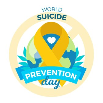 Journée mondiale de la prévention du suicide avec ruban