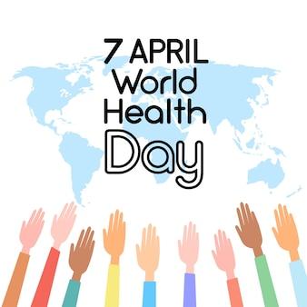 Journée mondiale de la santé sur la carte du monde