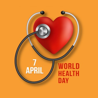 Journée mondiale de la santé. illustration de médecine vectorielle