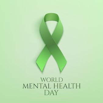 Journée mondiale de la santé mentale ruban vert
