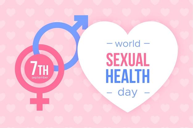 Journée mondiale de la santé sexuelle avec des signes de genre