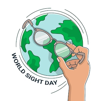 Journée Mondiale De La Vue Vecteur Premium