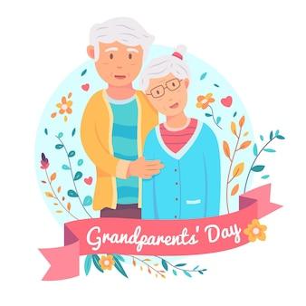 Journée nationale des grands-parents avec un couple plus âgé
