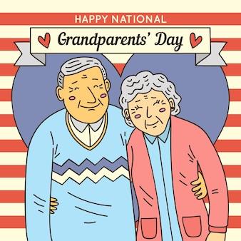 Journée nationale des grands-parents dessinés à la main