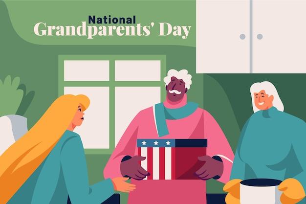 Journée nationale des grands-parents plat usa
