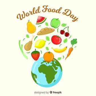 Journée de la nourriture mondiale dessinée à la main