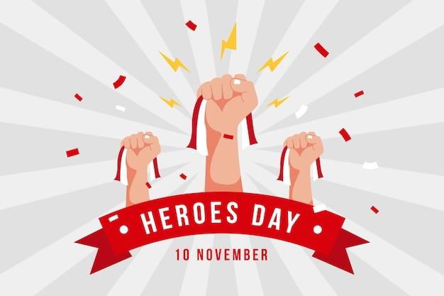 Journée pahlawan vintage