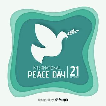 Journée de la paix avec la colombe